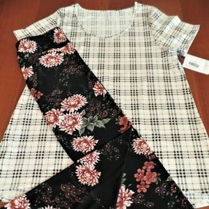 LULAROE OUTFIT! XL- CLASSIC-T TOP with TC-LEGGINGS